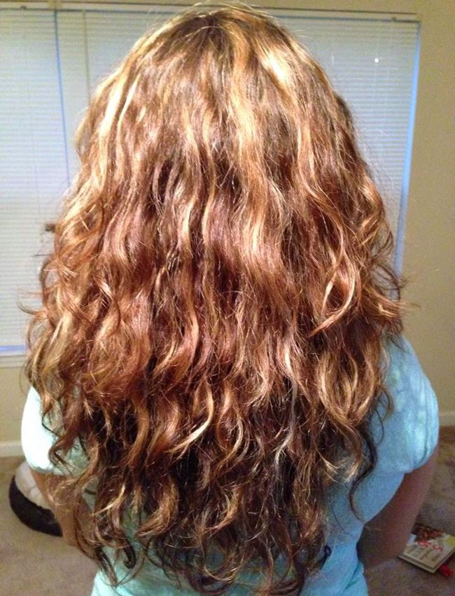 Curly Girl Method week 2 (back)