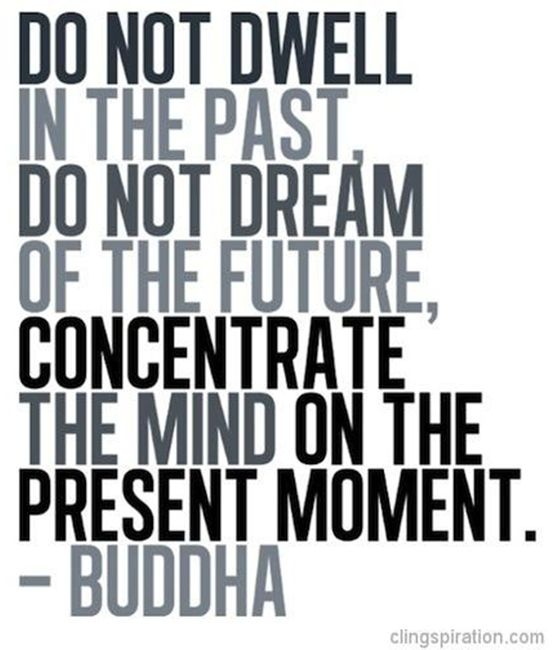do not dwell in the past buddha quote