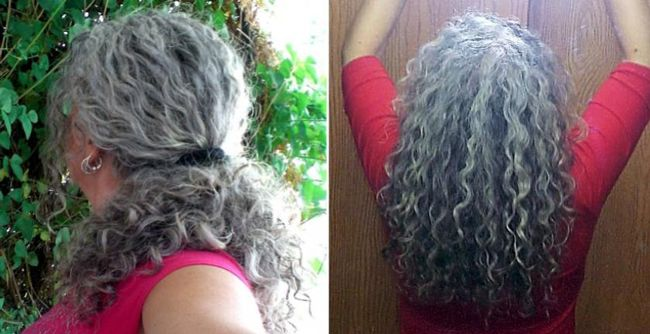 gray curly hair acceptance