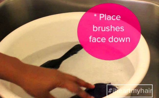 place brush face down