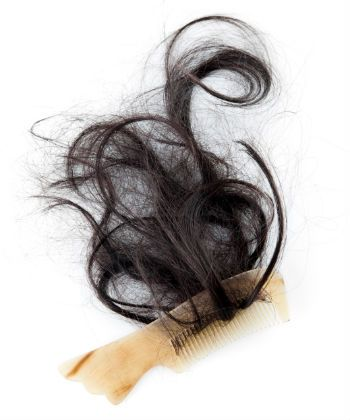 combing hair rougly