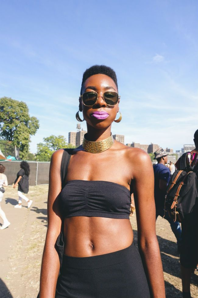 short hairstyle at Afropunk Fest