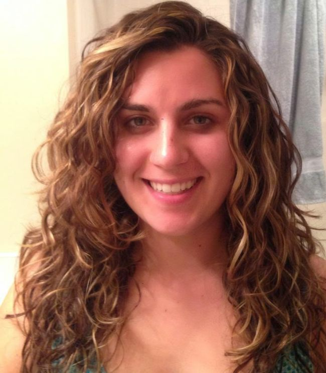 Curly Girl Method week 1 (front)