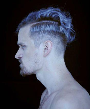 deep contrast line mens haircut