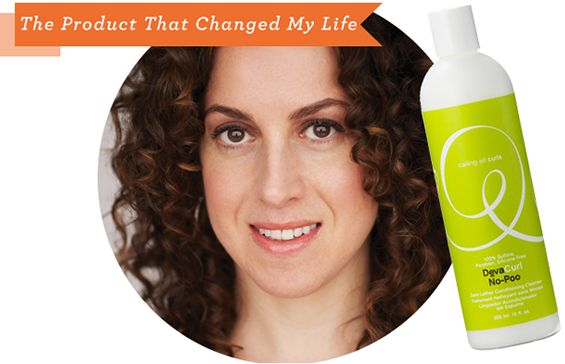 Melanie Dunea with Devacurl No Poo