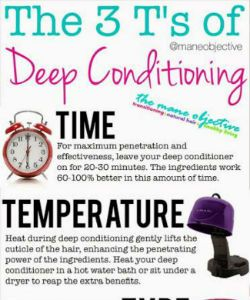 The 3 T's Of Deep Conditioning