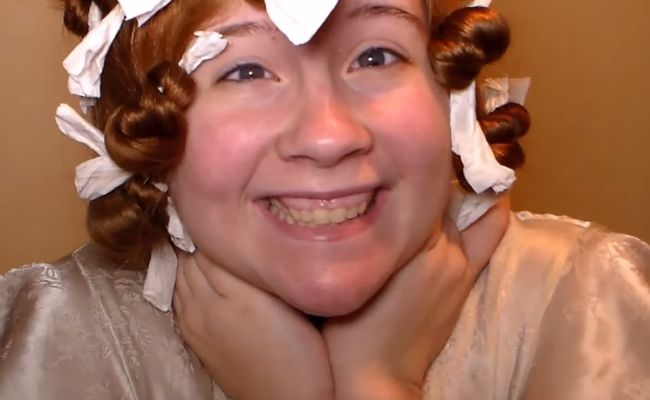 toilet paper method for curls