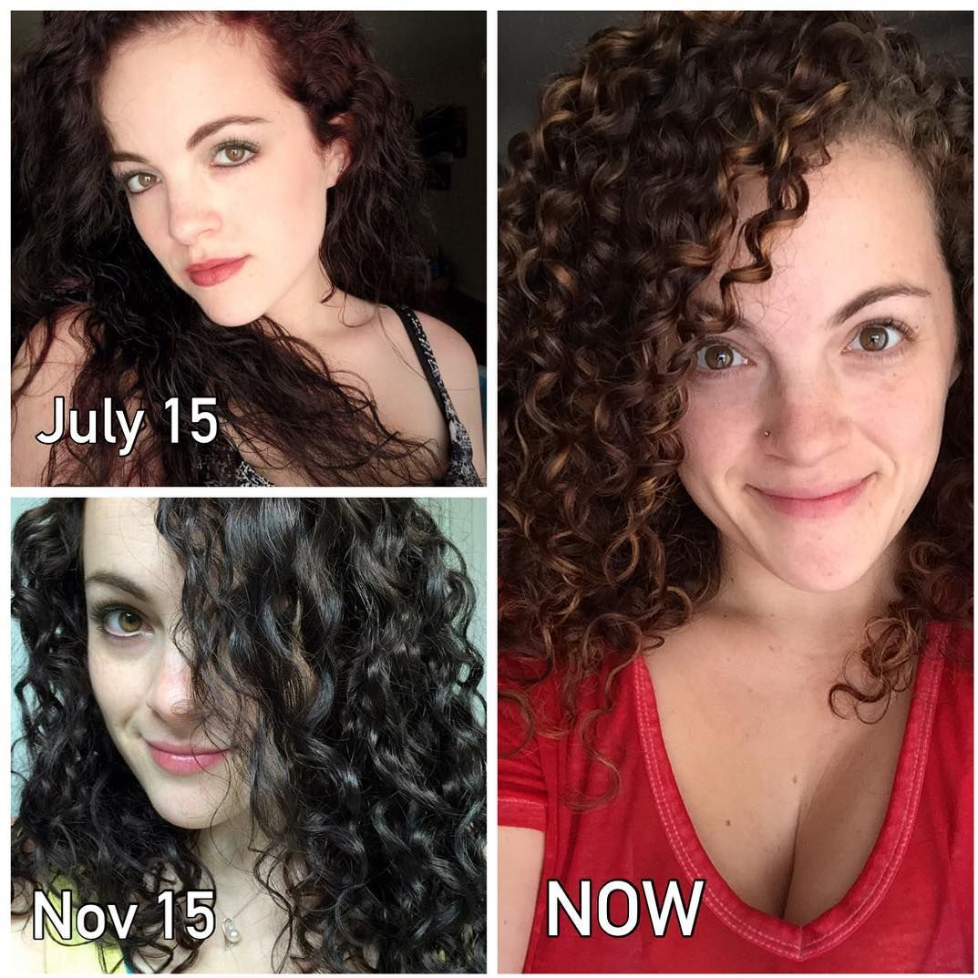 Before After Curly Transformation