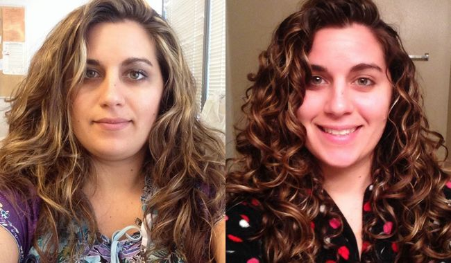 BEFORE AND AFTER THE Curly Girl METHOD