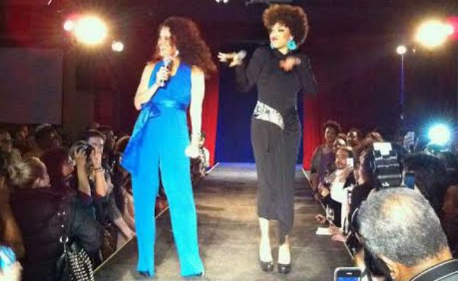 michelle breyer at texture on the runway