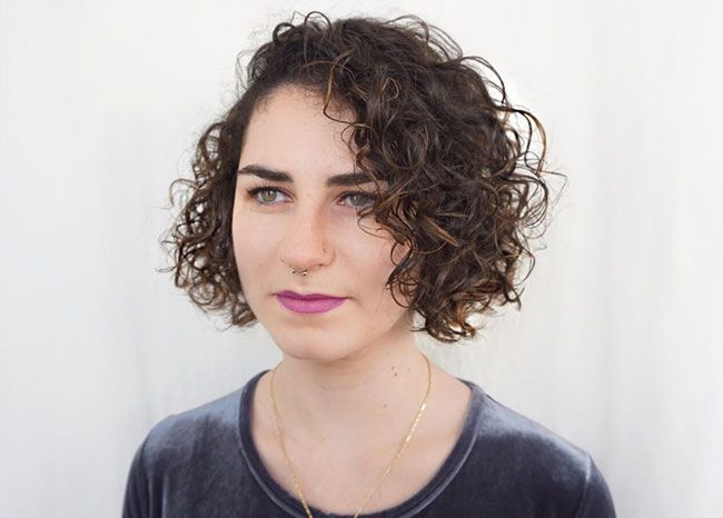 Short Curly Bob Haircut