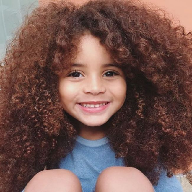 curly hair kid farouk james