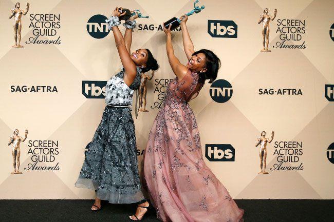 Janelle Monae & Taraji P. Henson SAG Awards