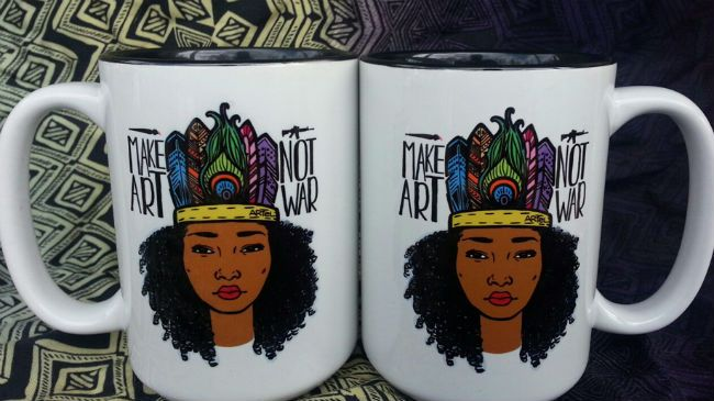 natural hair mugs - gifts