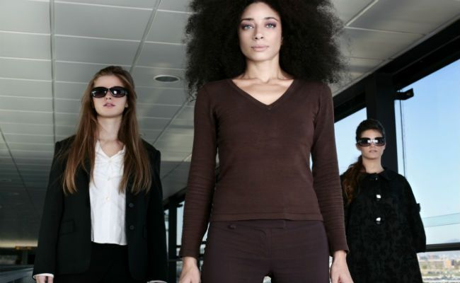black women at airport
