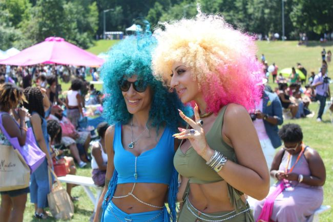 fantasy color big hair girls at curlfest 2016