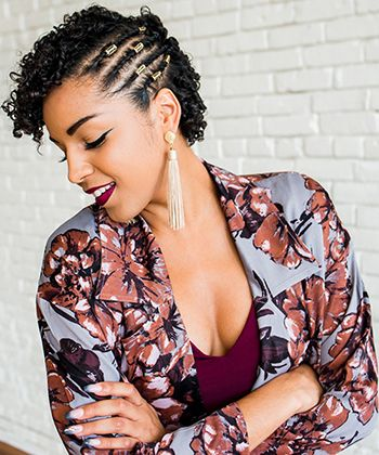 My Favorite Short Curly Hairstyle for Fall