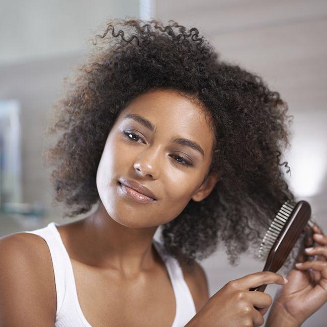 brushing natural hair