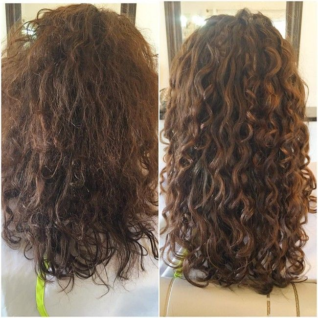 Deva Cut Before After Curly