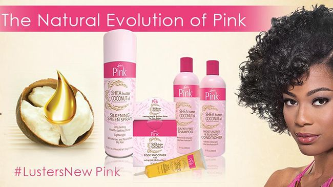Luster's Pink Shea Butter Hair Care and Styling Line