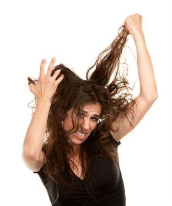 detangling curly hair