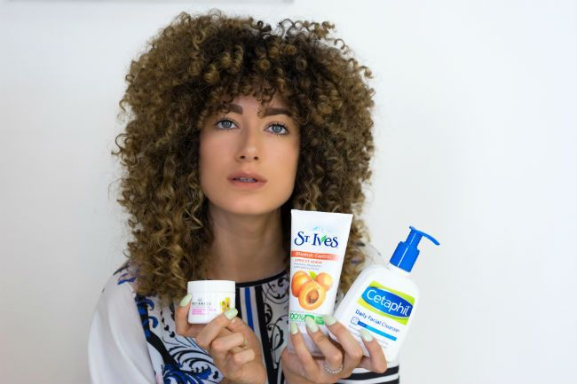 stylefeen curly hair skin routine