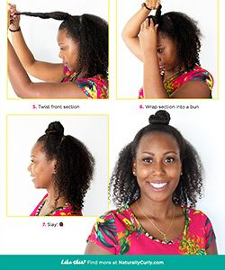 This Remarkable Ninja Bun Hack By Twisted Sista Moisturizes Thirsty Curls