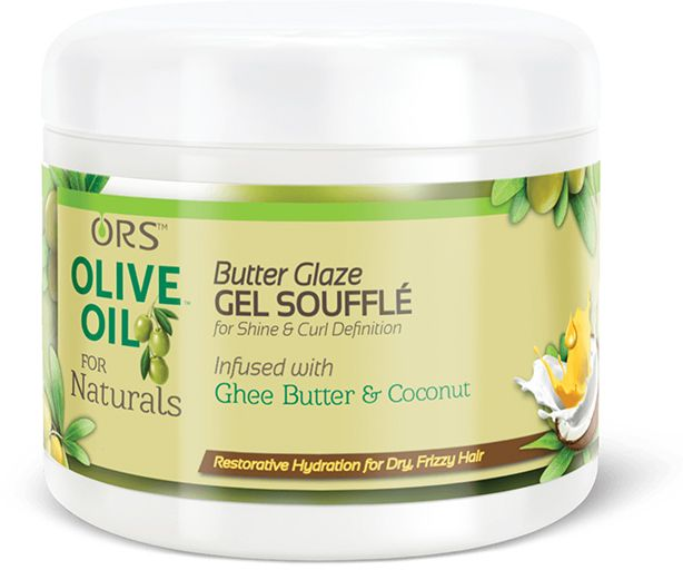 ORS Olive Oil for Naturals Butter Glaze Gel Souffle infused with ghee butter and coconut