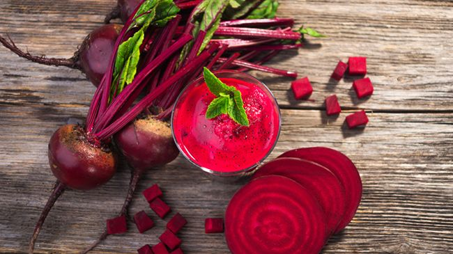beets for glossy hair