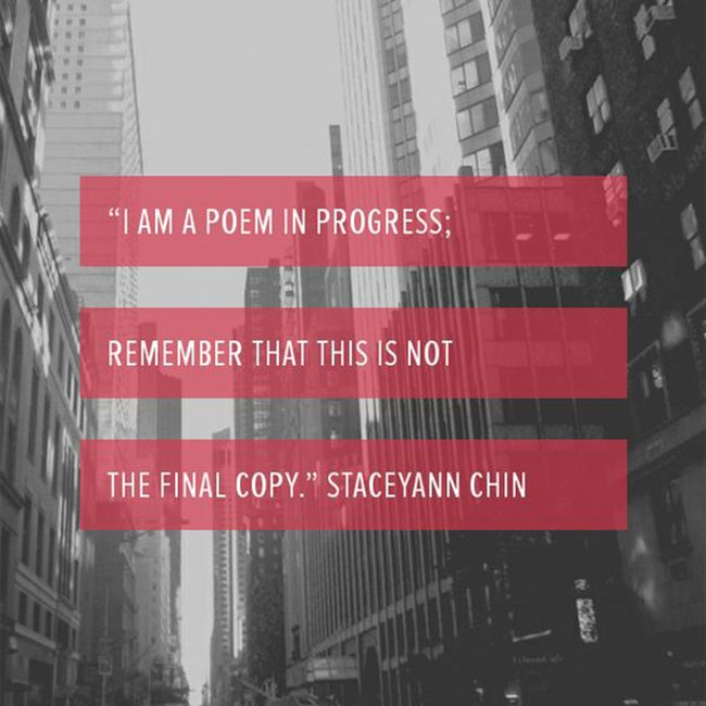 i am a poem in progress quote