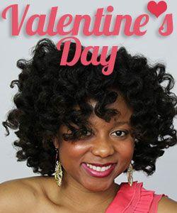 Valentine's Day Hot Heatless Curls Tutorial