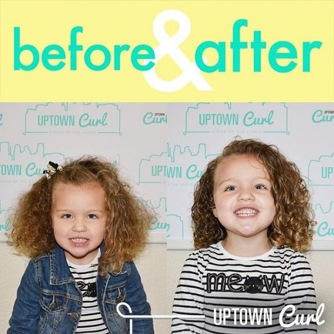 before after curly kid haircut