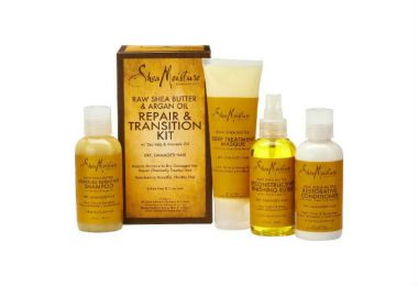 SHOP: SheaMoisture Raw Shea Butter & Argan Oil Repair & Transition Kit