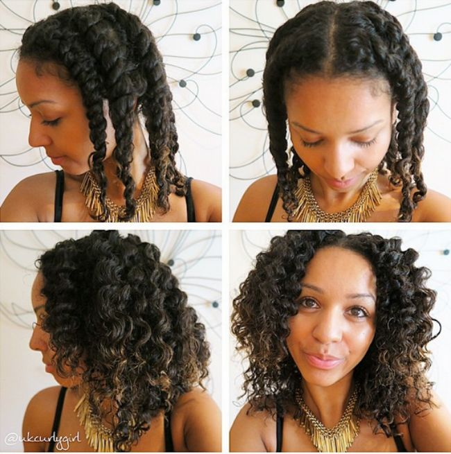How To Blend Your Transitioning Hair With A Twist Out