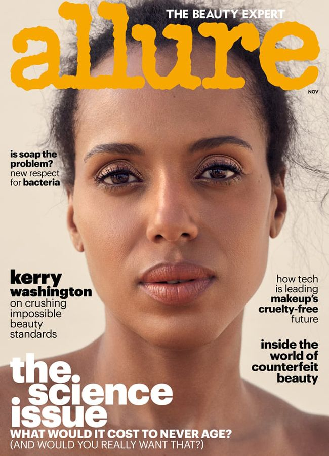Allure cover featuring Kerry Washington