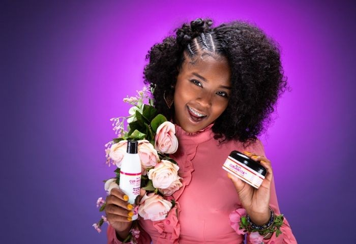 Teen Entrepreneur Launches Natural Hair Line and Network, Curlanistas, to Empower Young Girls