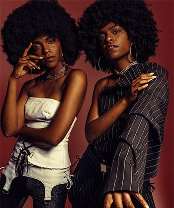 Texture Tales: Twin Models, Delcia and Alia, on the Importance of Embracing their Afros