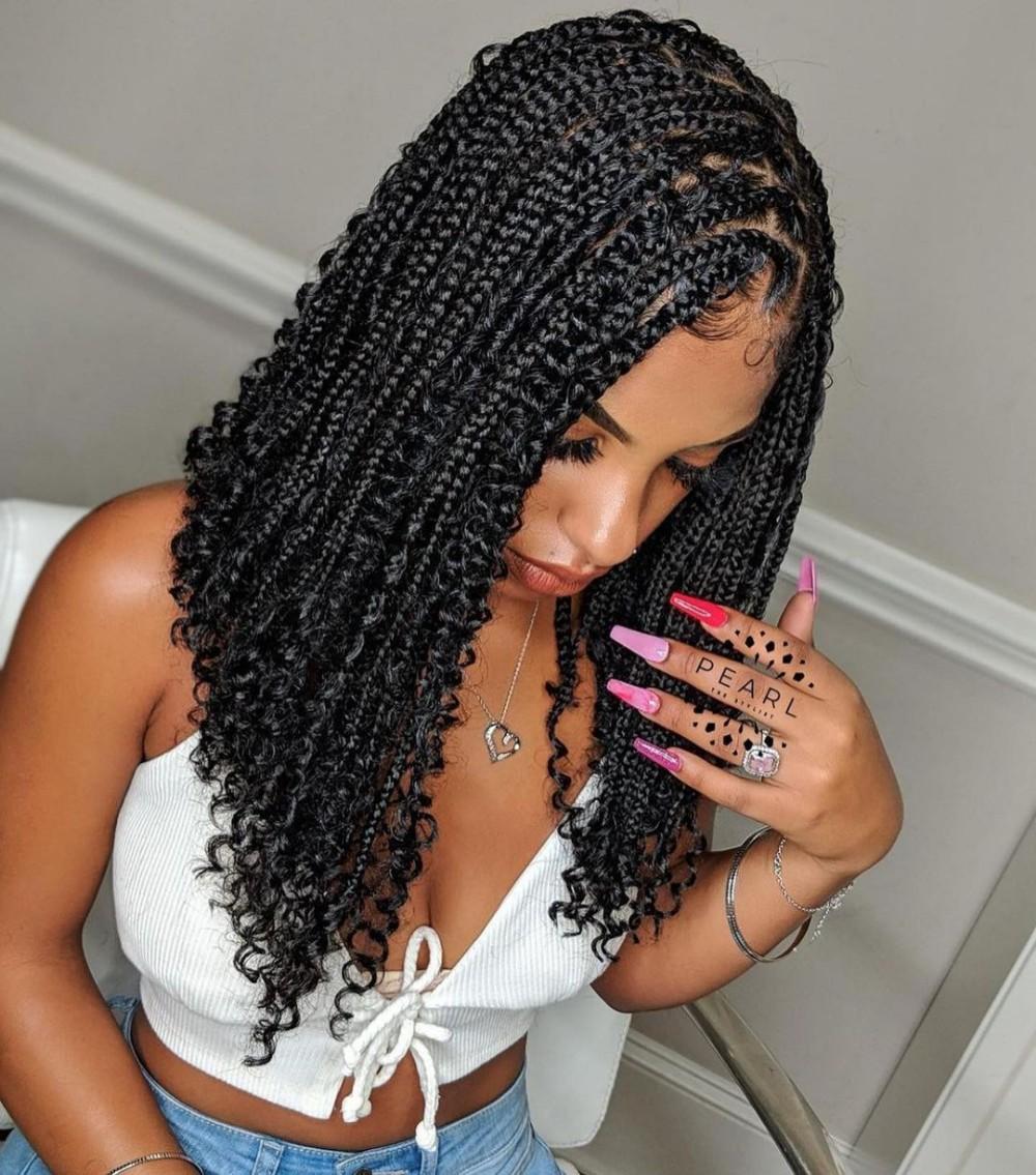 Knotless braids bob