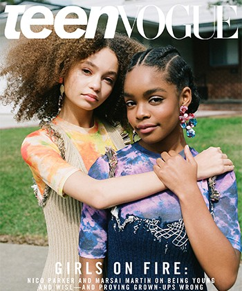 Marsai Martin and Nico Parker Grace Teen Vogue with Stunning Natural Hair