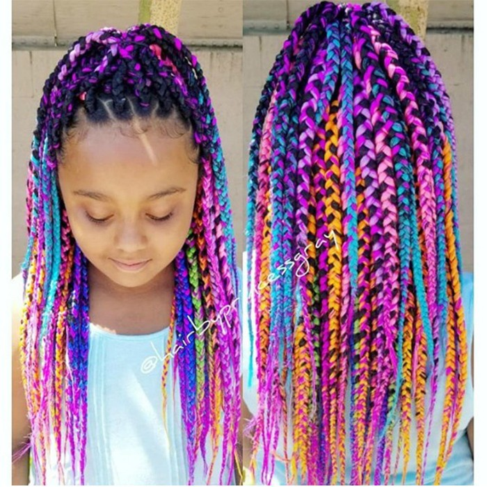 NC Rainbow Braids @hairbyprincessgray 700