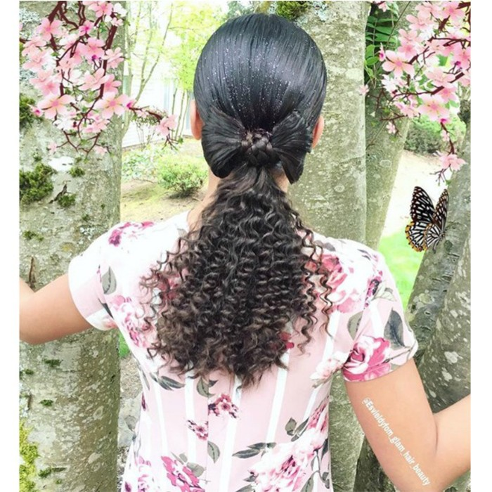 NC Bow-Tie Ponytail @esvieldyfom glam hair beauty 700