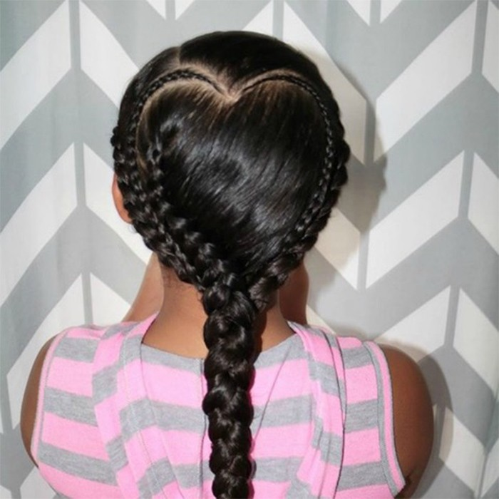 NC Heart Shaped Braid @firstclasscurls 700