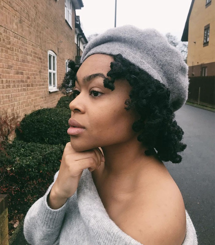 Braidout with a hat