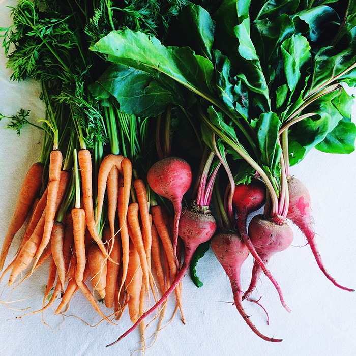 Carrots and beets for home hair dye