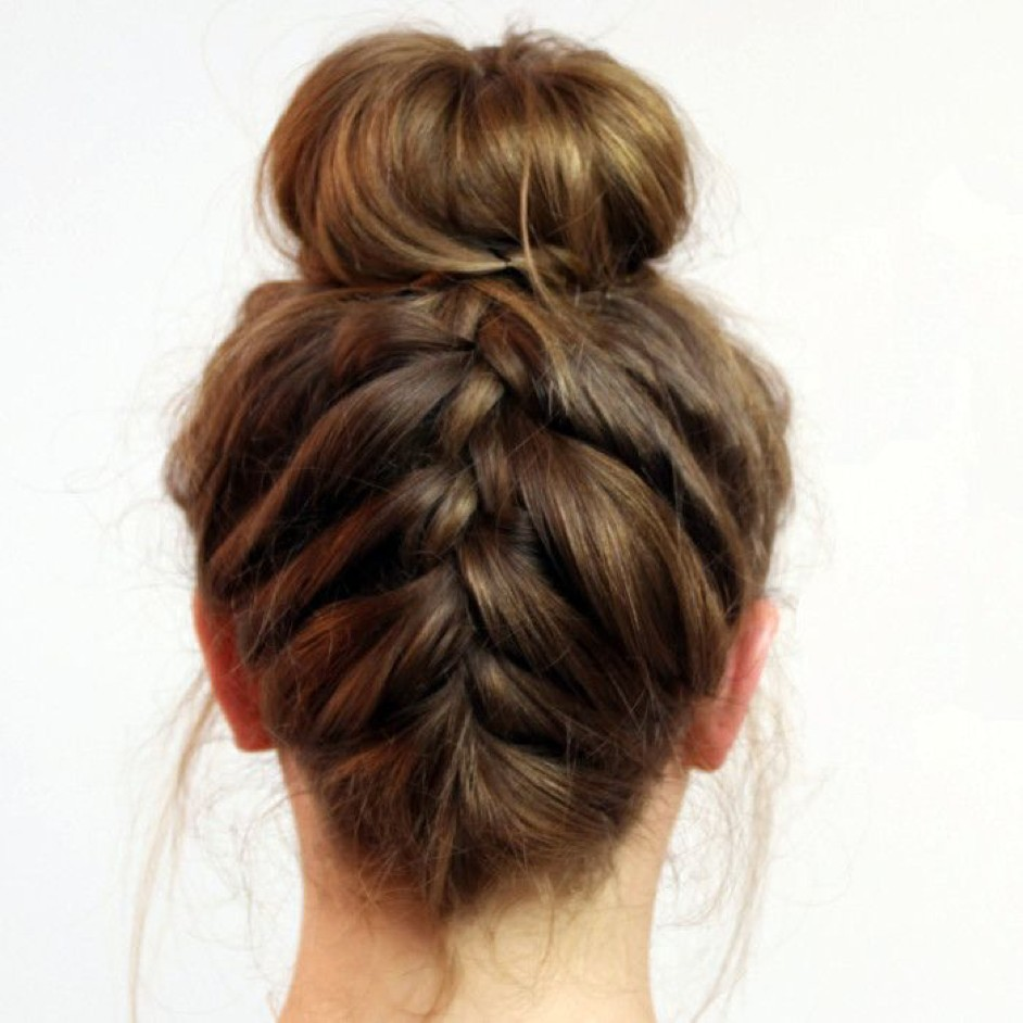 French Braid Back Bun