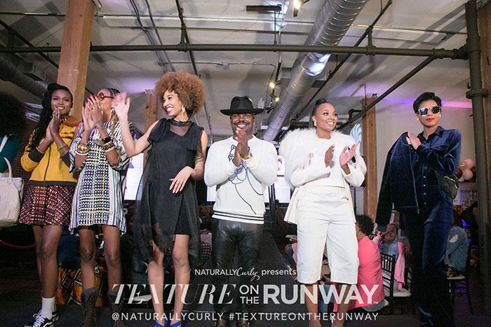 texture on the runway atlanta 2018 model as afropunker