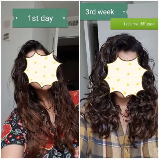 3 weeks into CGM (14 yrs of heat damage) 2c 3a Updo Pompadour