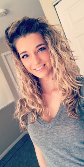 Loving my curly waves! 2c 3a Out Long Curly Hair Curly  wavy  natural  blonde  lose curls  long curls