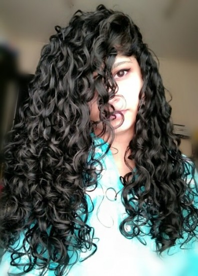 Naturally curly hair 3a Out Long Curly Hair