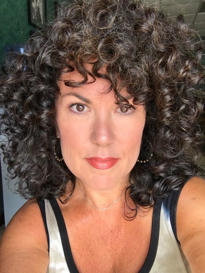 Frizz is okay! 3a Out Wash and Go Natural curls  dye-free  air dry  curly hair  curly girl  curly girl method  curly silver  Day 3 Hair.Love the Fluff  Embrace the Frizz